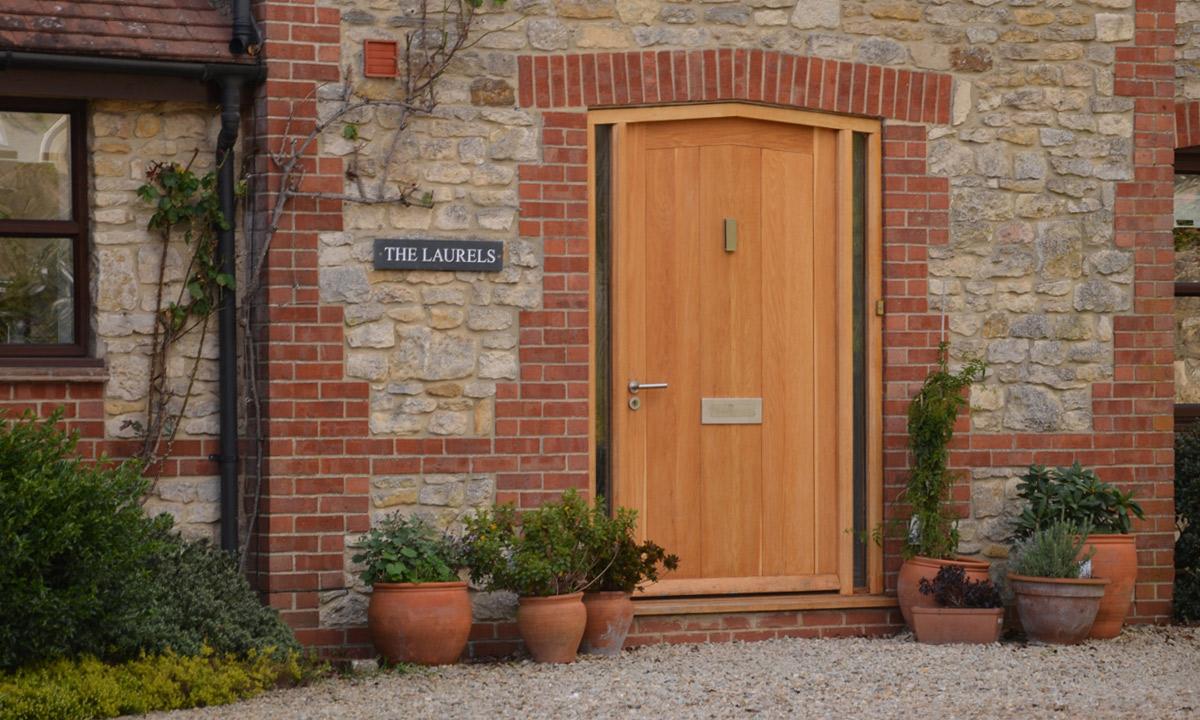 Timber front door